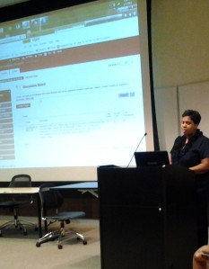 Presenting a Workshop on Blackboard at Texas Southern University