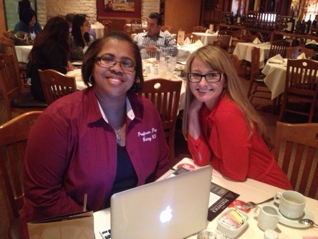 Michelle Smith and Myself working lunch